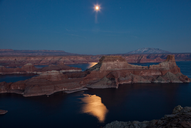 moonrise over Lake Powell