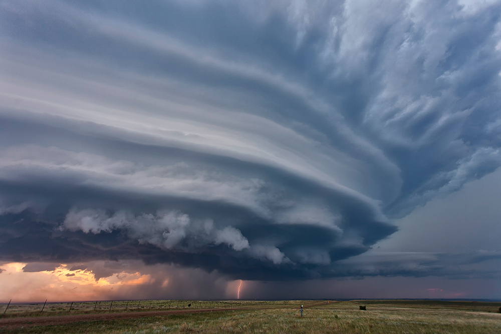a supercell in North Dakota