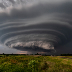 a supercell with a stack of plates