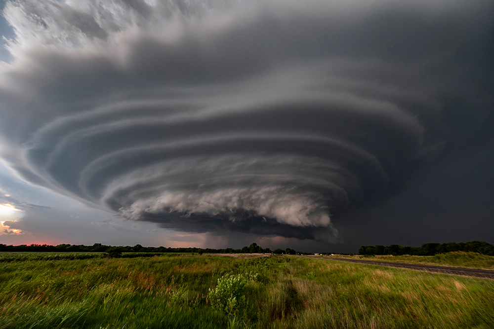 a stacked supercell over Kansas