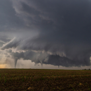 three tornadoes from the same storm