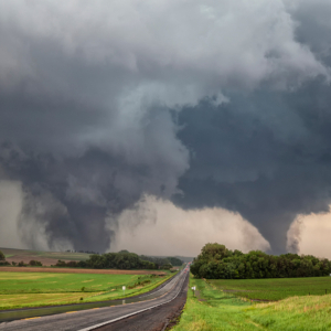 two massive tornadoes